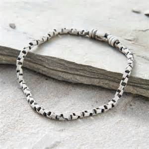 3rd wedding anniversary gifts s sterling silver box link bracelet hurleyburley