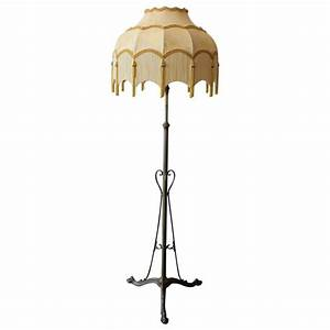arts and crafts floor lamp with fringed shade at 1stdibs With floor lamp with fringed shade