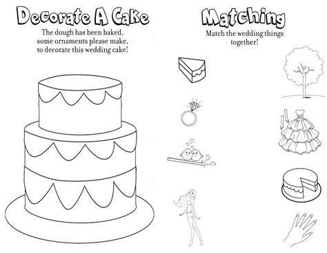 wedding coloring  activity book
