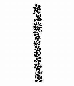 Black And White Flower Border Clip Art Free ...