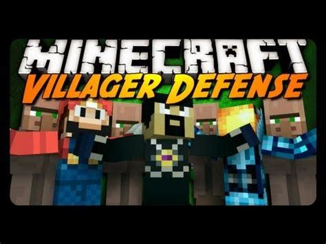 minecraft mini game villager defense  antvenom