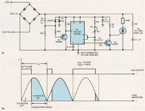 555 timer triggers phase circuit edn