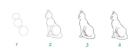 comment dessiner un chat assis comment dessiner un chat crayons et pinceaux