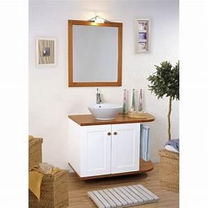 Meuble Vasque Bois Salle De Bain : meuble vasque salle de bain bois et laque canata vasque ~ Teatrodelosmanantiales.com Idées de Décoration