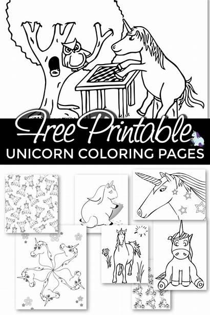 Unicorn Coloring Pages Printable Unicorns Adult Books