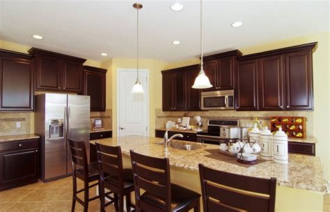 dark cabinets light granite love dark cabinets and light granite kitchen