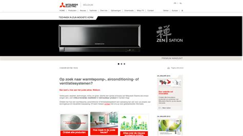 Mitsubishi Extranet by De Nieuwe Website Mitsubishi Electric Staat