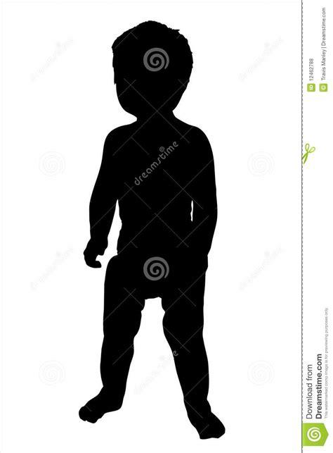 Ilustración De La Silueta Del Niño Fotos De Archivo Libres