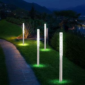 set of 12 led solar lights garden ground spike outdoor With katzennetz balkon mit solar garden lights