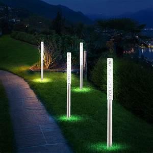set of 12 led solar lights garden ground spike outdoor With katzennetz balkon mit garden lights