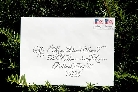 wedding calligraphy envelopes custom handwritten place