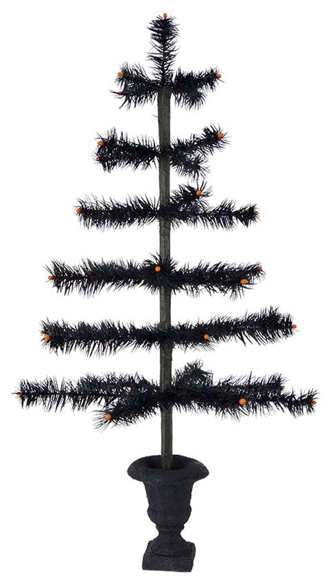 black feather tree in urn by bethany lowe traditions