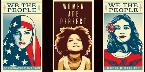 shepard fairey trump posters protest washington artlyst