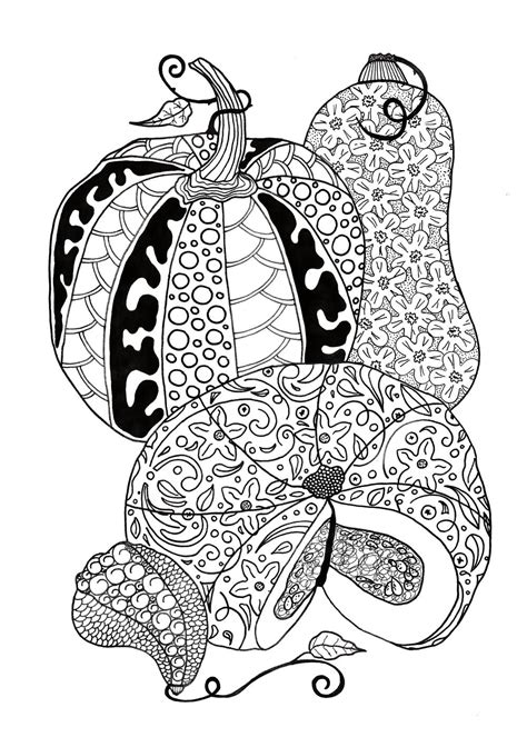 pumpkin feast adult coloring page favecraftscom