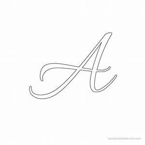 Allura cursive alphabet stencils freealphabetstencilscom for Cursive letter stencils free