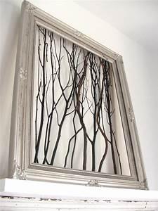 Easy art idea make framed branches ? curbly diy design