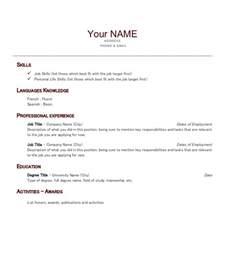 un rsum en anglais exemple de cv en anglais pour un comptable document