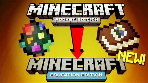 minecraft pe  minecraft education edition coming