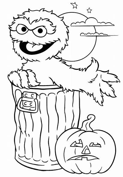 Halloween Coloring Pages Printable Sesame Street Getcoloringpages