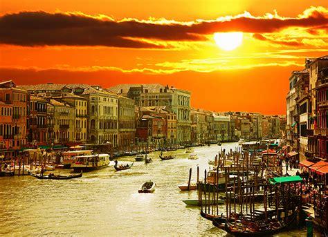 Image Venice Italy Sun Canal Sky Sunrises And Sunsets
