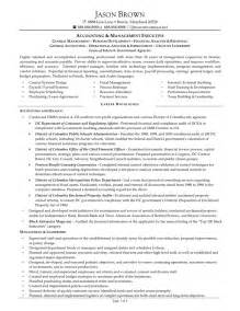 management accountant resume sle sle resume accountant
