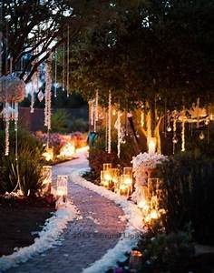 Candle, Lit, Garden, Wedding, Ceremony, Aisle, Flowers, And, Candles, By, Adorations, Botanical, Ar