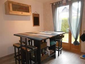 Table En Palette : table de cuisine en palettes et meuble haut recycl avec ~ Melissatoandfro.com Idées de Décoration