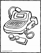 Cash Register Toy Drawing Colouring Kiddicolour Pages Coloring Getdrawings Template 01v Receiver Mail sketch template