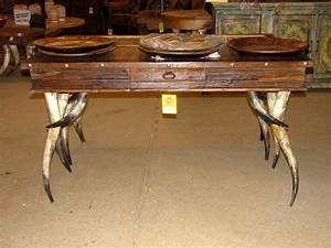 with a modern lodge style the rustic horn leg sofa table With lodge style coffee tables