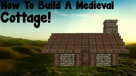 minecraft tutorial   build  medieval small cottage youtube