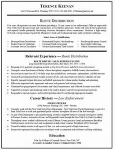 Career Change Resume Sample Independent Route Sales Driver