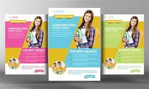 Kids school education flyer template flyer templates on creative market for Education flyer templates