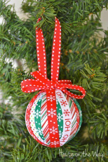 christmas ribbon ornament craft christmas ornament