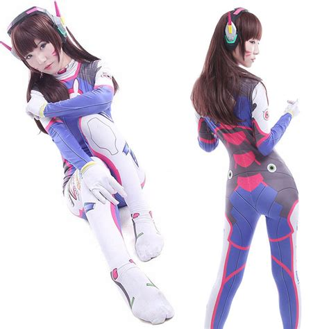 Chic Overwatch Dva Ow Game Cosplay Costume Zentai Suit