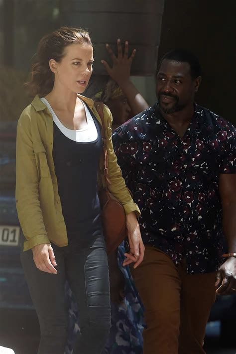 Kate Beckinsale filming scenes for her upcoming movie 'The ...