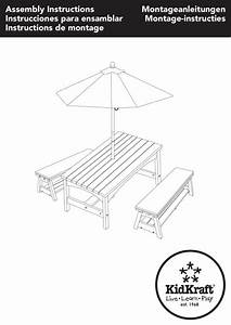 Kidkraft Outdoor Table  U0026 Bench Set With Cushions