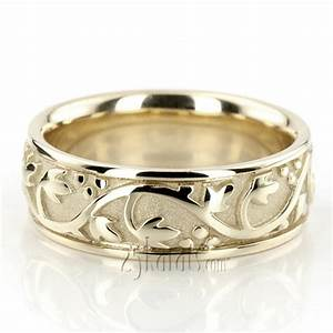 floral antique handmade wedding ring hc100232 14k gold With homemade wedding rings