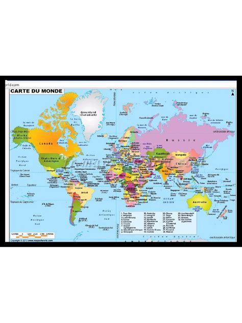 carte du monde carte du monde pdf fichier pdf