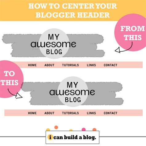 Blogger How To Center Your Header  I Can Build A Blog