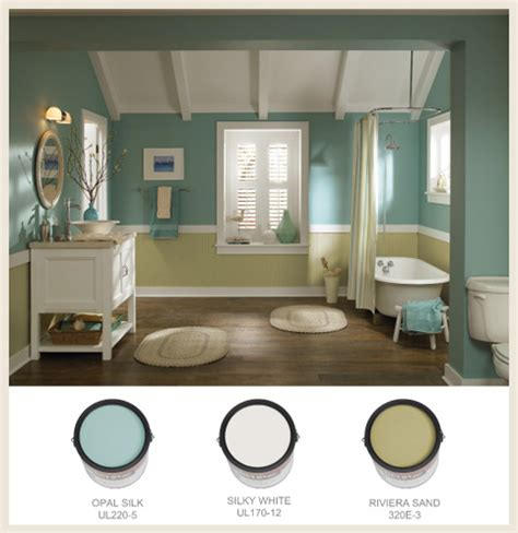 Behr Bathroom Colors by Colorfully Behr Seaside Decor