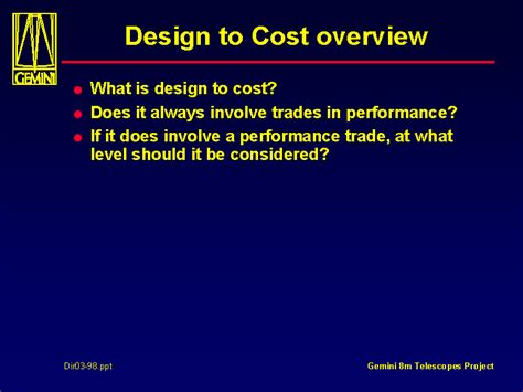 design  cost overview