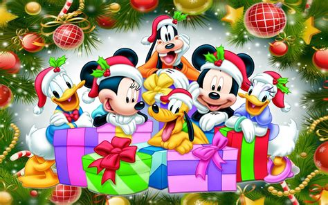 merry christmas than mickey and friends desktop hd wallpaper for pc tablet and mobile download