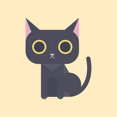 create  funny cartoon cat  adobe illustrator