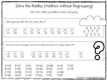 standard algorithm double digit addition