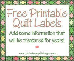 printable quilt labels add  information