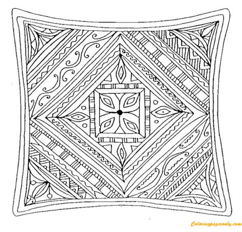 square mandala coloring page  coloring pages