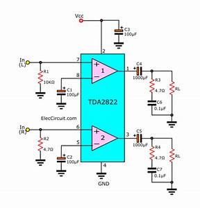 Tda2822 Stereo Amplifier  U0026 Datasheet