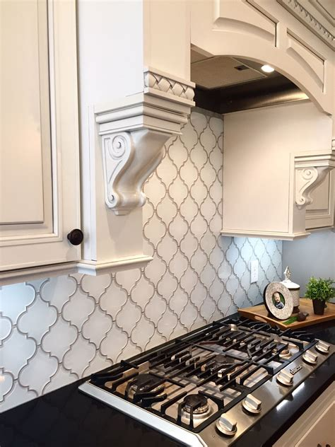 tile backsplash white arabesque glass mosaic tiles kitchen