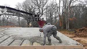 coulage dalle beton youtube With couler une terrasse en beton