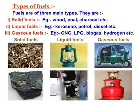 What Are The Different Types Of Fuels And Their